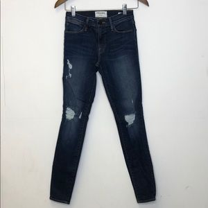 FRAME Jeans Size 24 Le High Skinny Distressed